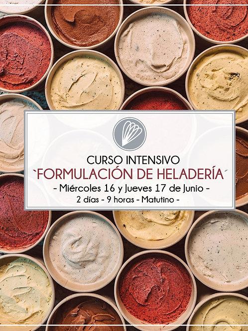 Curso intensivo 'FORMULACIÓN DE HELADERÍA' - Junio - [PRESENCIAL]