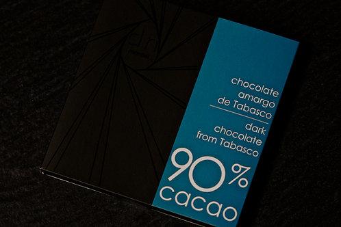 TABLETA DE CHOCOLATE 90% - [Envíos a todo México]