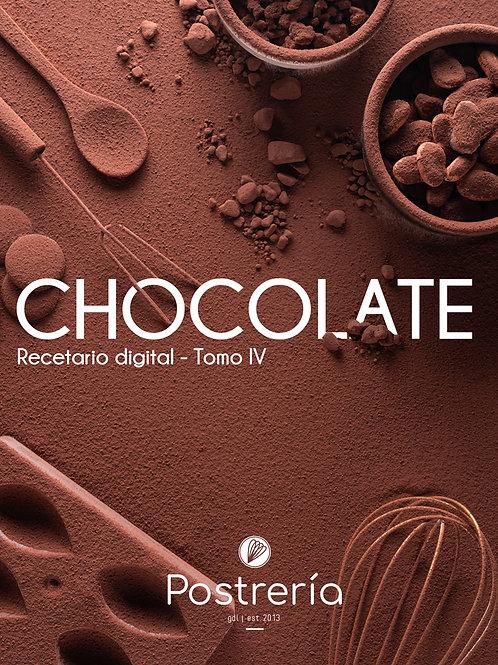 RECETARIO - Tomo 4 - Chocolate