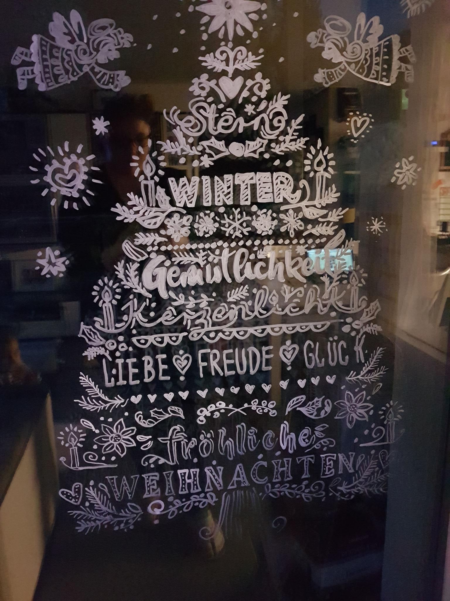 Fensterbilder Mit Dem Kreisestift
