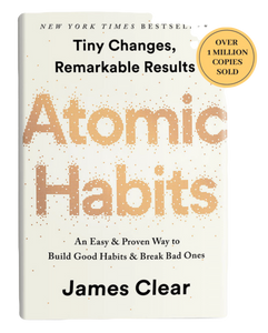 Front cover of the book - Atomic Habits by James Clear.