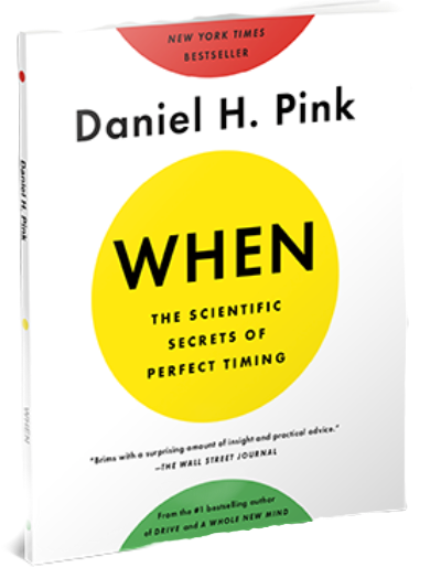Book cover photo of When by Daniel H Pink
