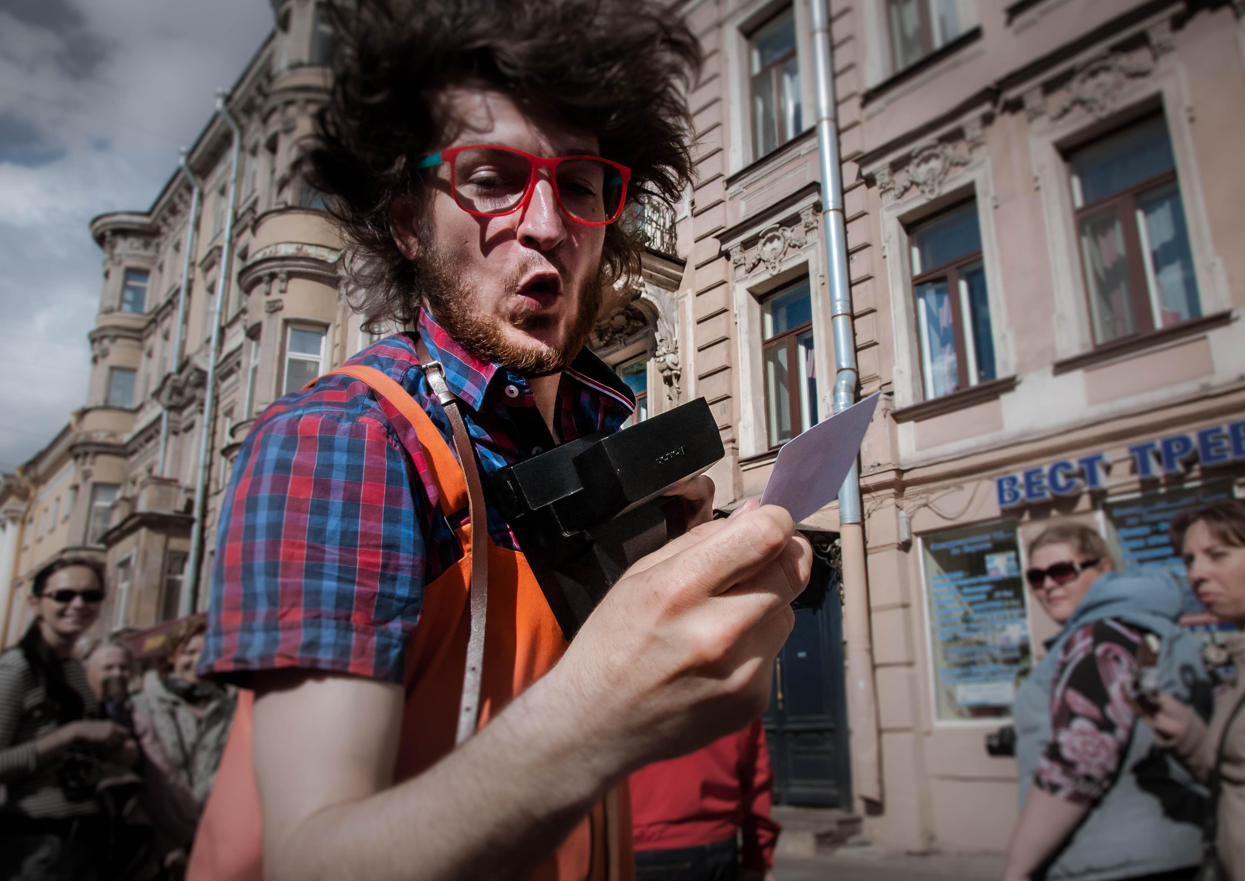 e dell'Est, i suonatori di strada a San Pietroburgo