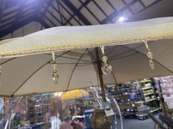 Cream Cotton Patterned Parasol
