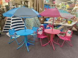 Shark & Unicorn Children's Table, Chairs and Parasol - £43.99