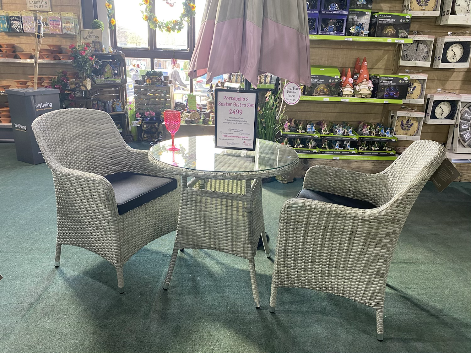 Portobello 2 Seater Bistro Set - £499