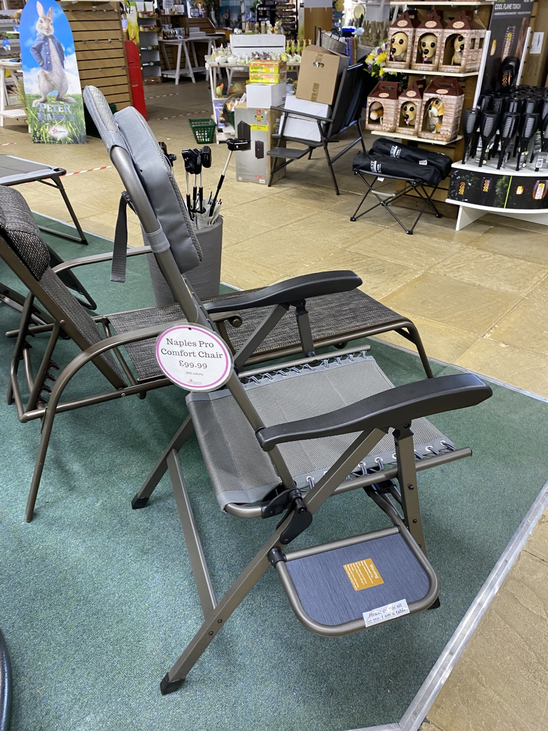 Naples Pro Comfort Chair with table- £99.99