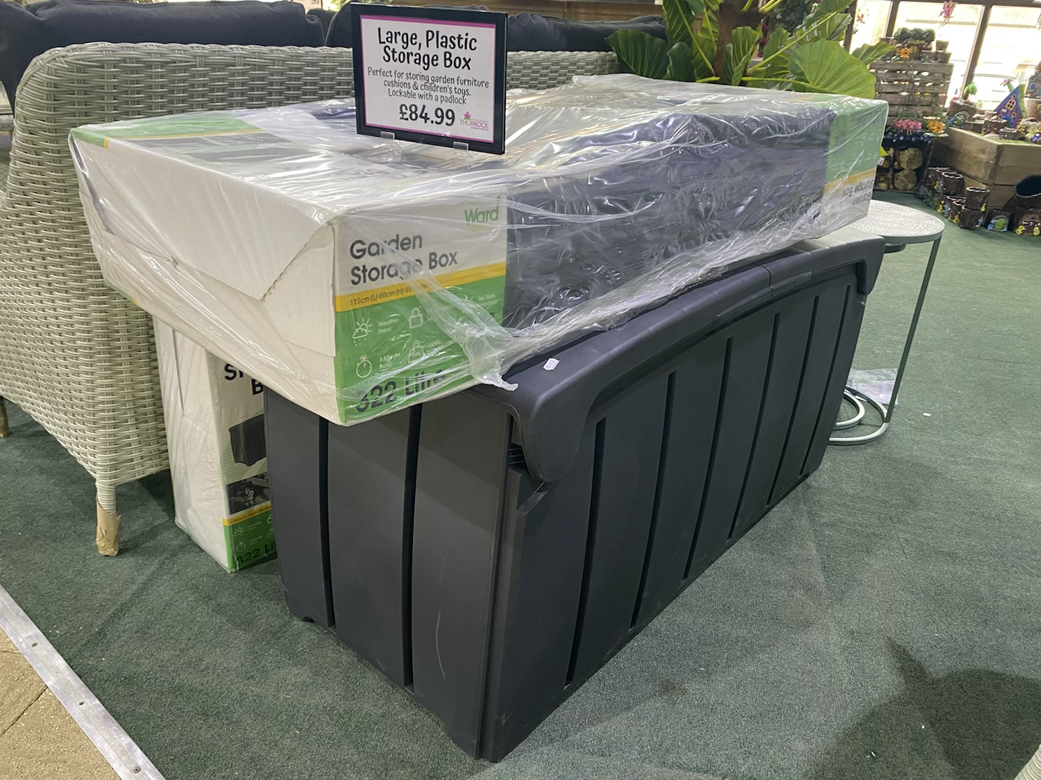 Large Plastic Garden Storage Box - £84.99