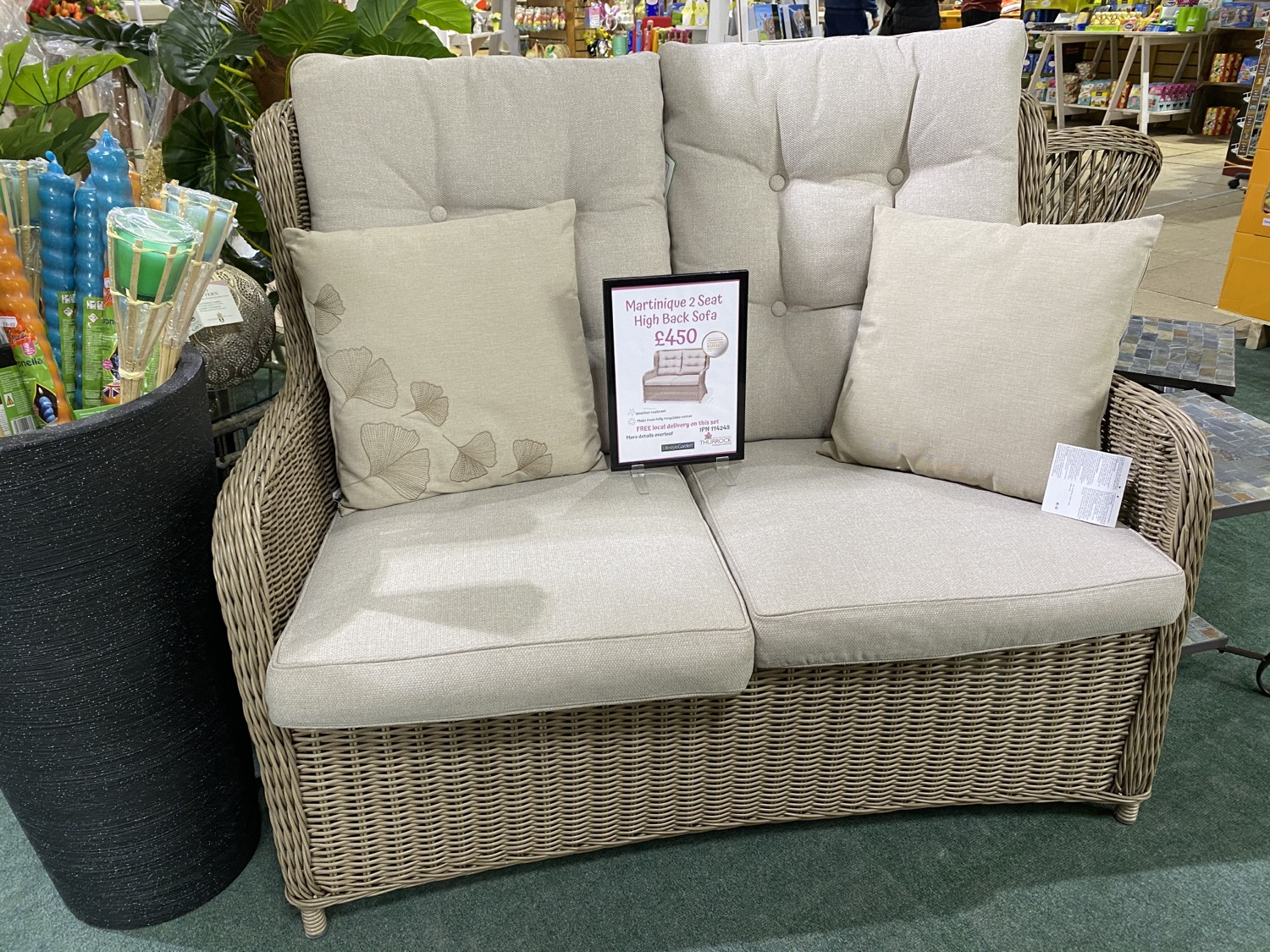 Martinique 2 Seat High Back Sofa - £450