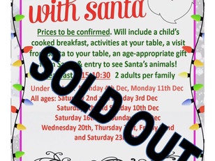 Breakfast with Santa SOLD OUT for 2017!