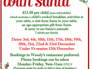 Breakfast with Santa bookings are OPEN!