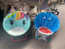 Unicorn & Shark Moon Chair - £19.99