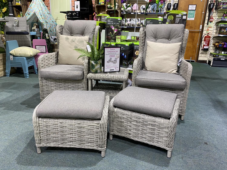 Samoa Companion Set with footstools - £900