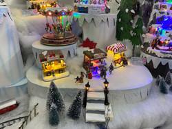 fibre optic, villages, reindeer, trees, santa, penguin, lights
