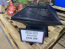 Square Steel Firepit 45cm Boscastle - £64.99