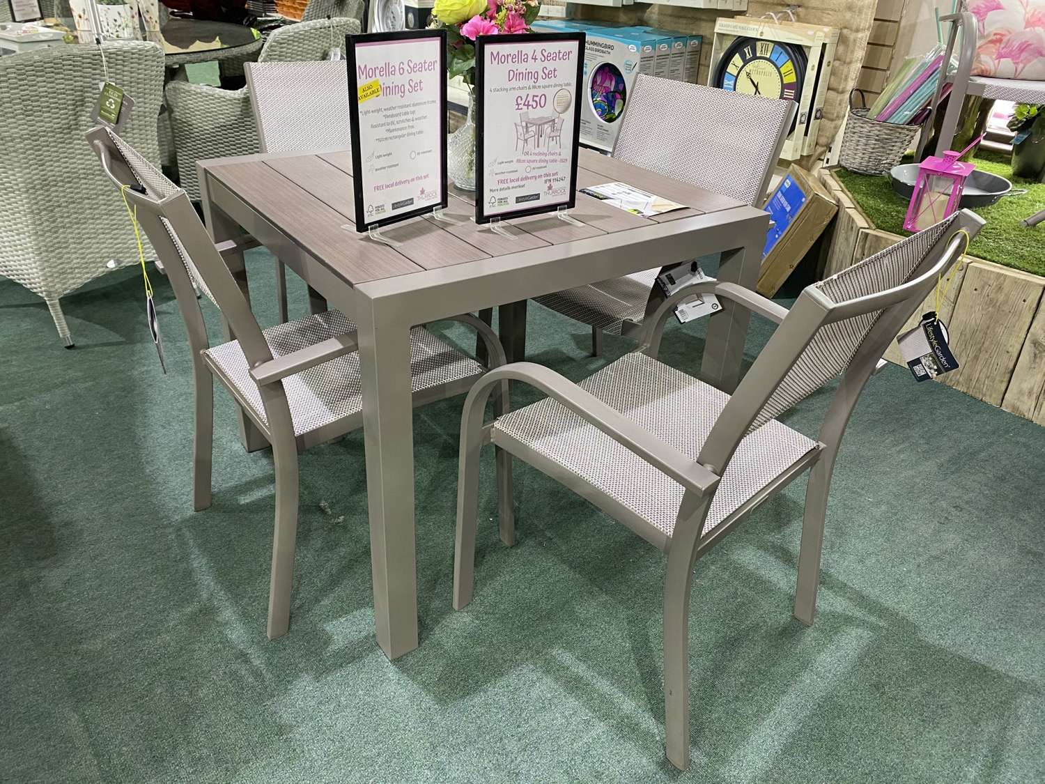 Morella 4 Seater Dining Set - £450