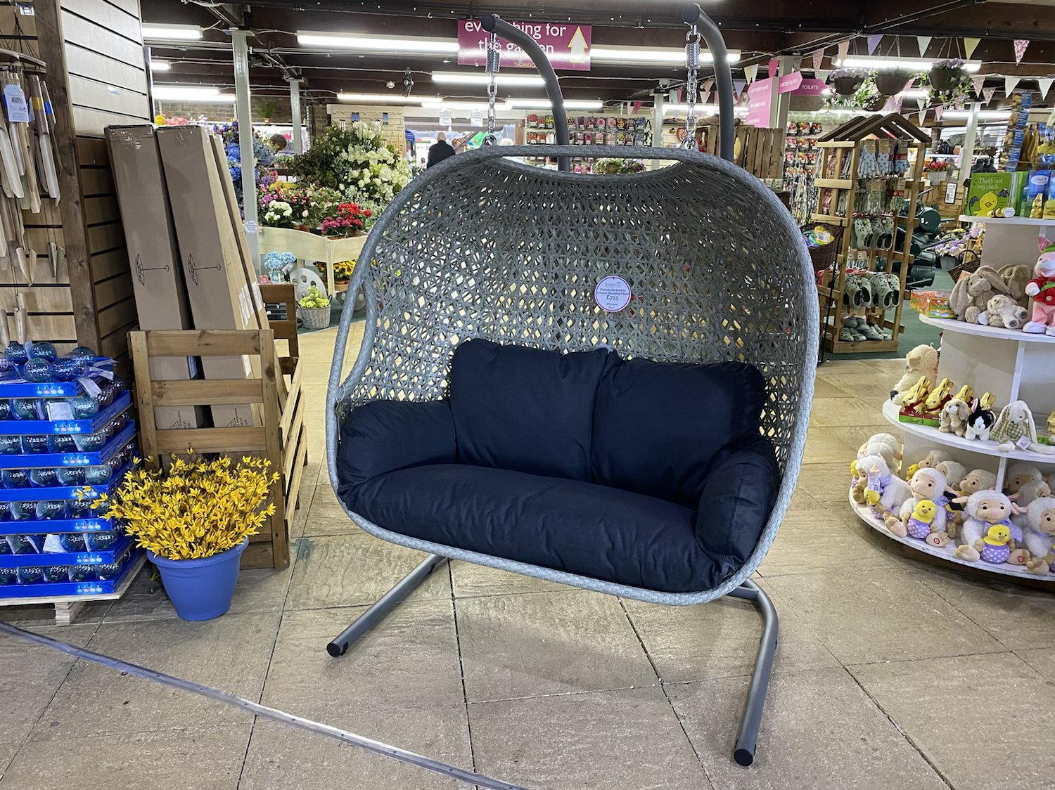 Portobello Double Cocoon Hanging Chair - £725