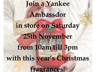 Join us for our Yankee Candle event this Saturday!