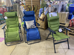 Ero Lounger Chair in Green or Blue - £170 & Voyager Chair Green - £130