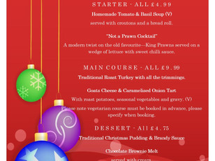 Woody's Festive Menu...book now!