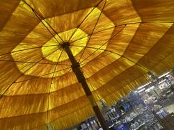 Yellow Straw Effect Parasol
