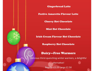 Woody's Winter Warmers..available from 13th November