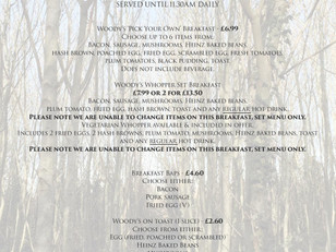 Woody's Autumn/Winter menu is out now!