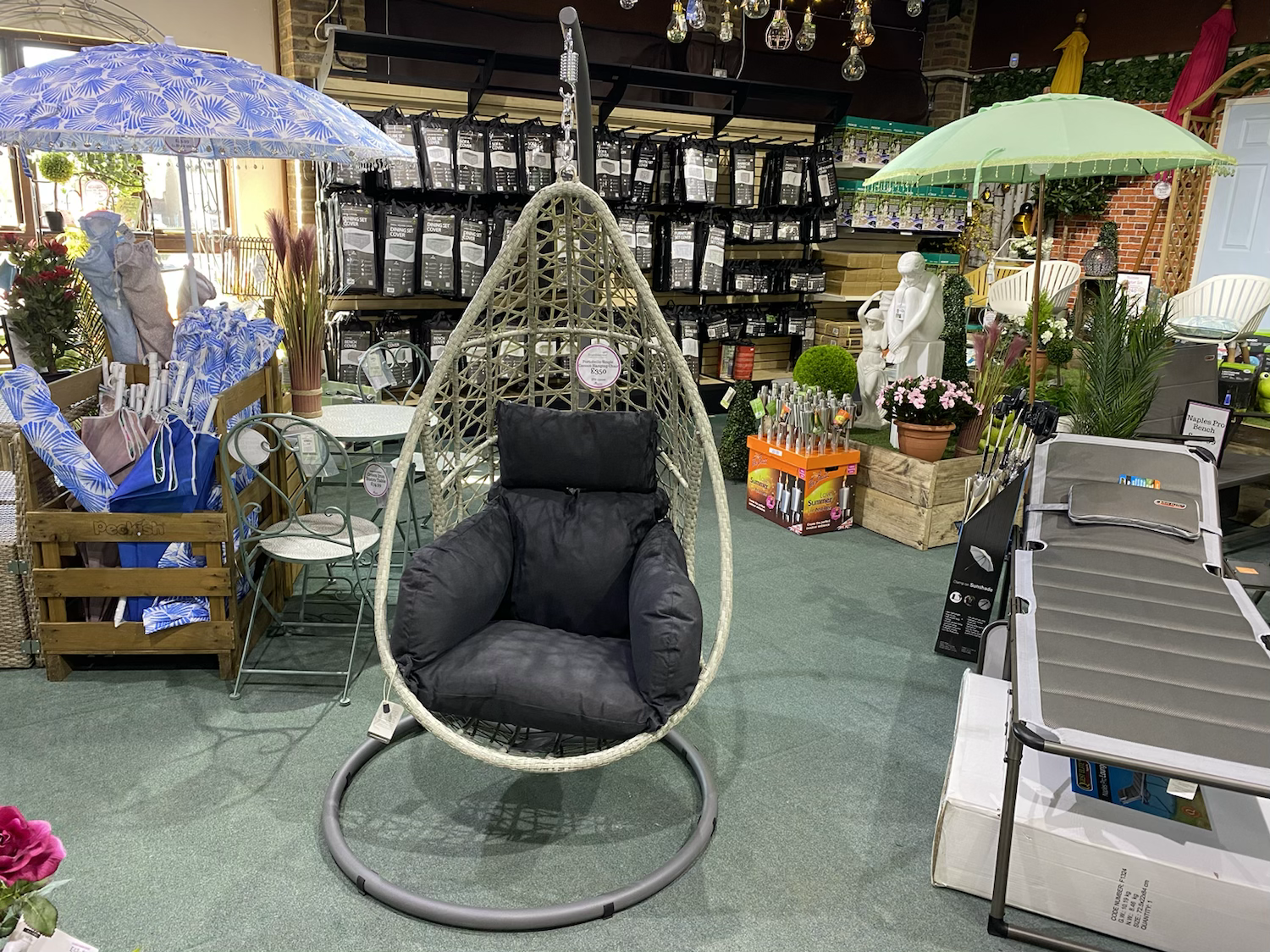 Portobello Single Cocoon Hanging Chair - £350