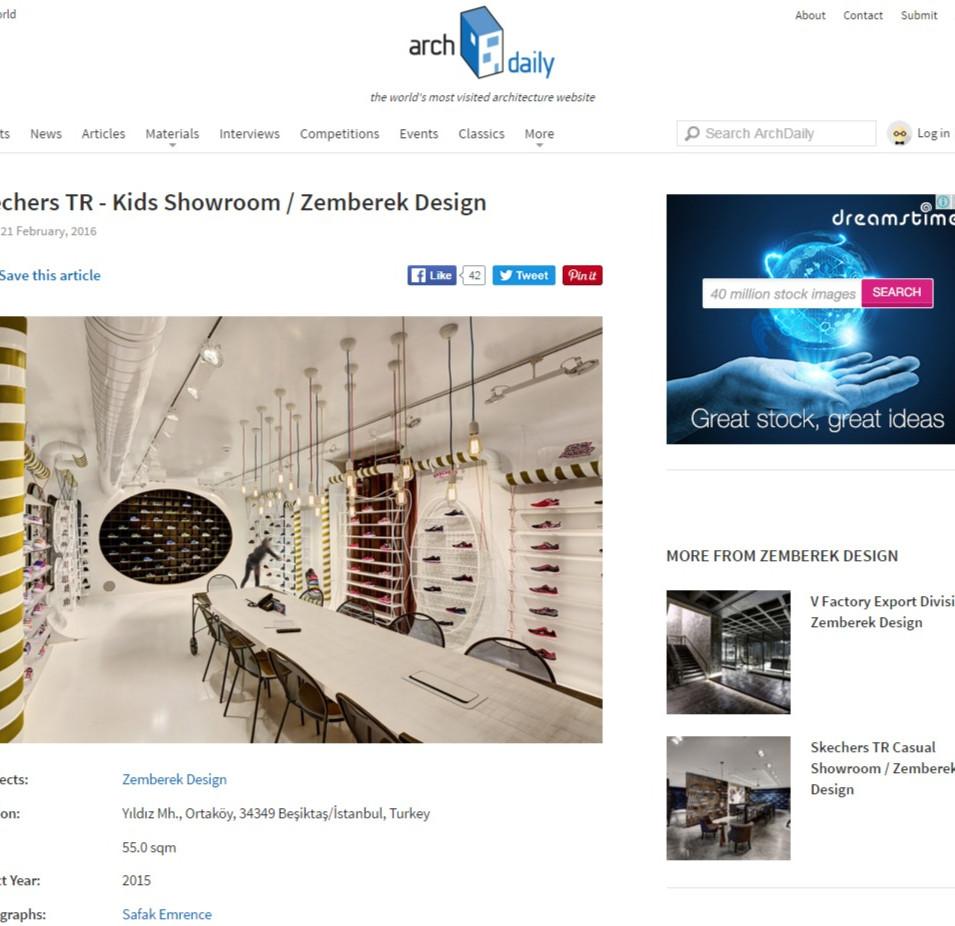 Archdaily - Skechers Kids Showroom