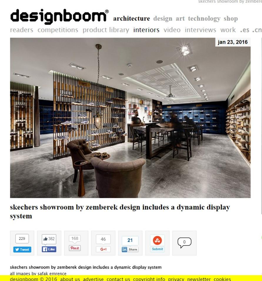 Designboom - Skechers Casual Showroom