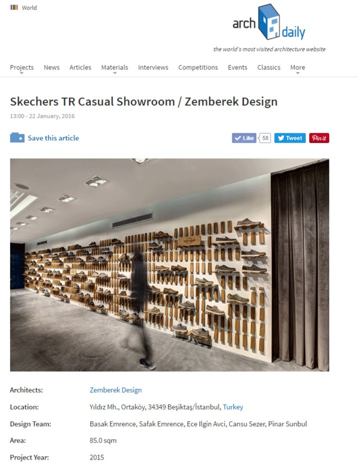 Archdaily - Skechers Casual Showroom