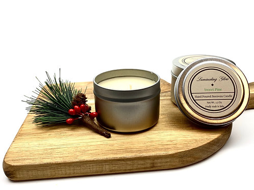 Sweet Pine Beeswax Candle