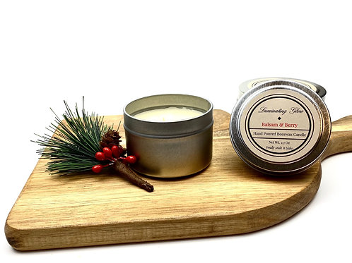 Balsam & Berry Beeswax Candle