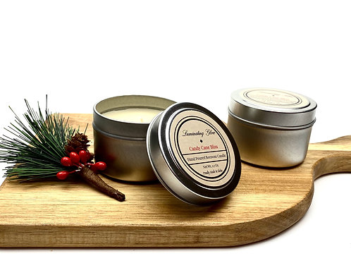 Candy Cane Bliss Beeswax Candle