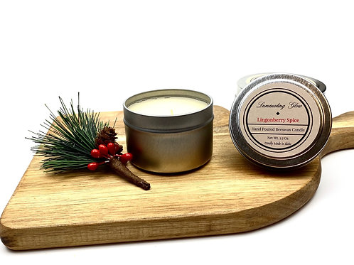 Lingonberry Spice Beeswax Candle
