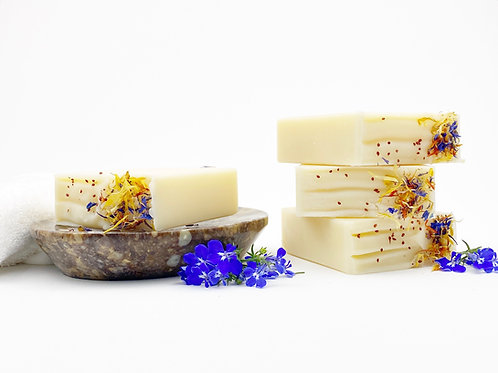 handcrafted artisan soap lemon scent essential oil