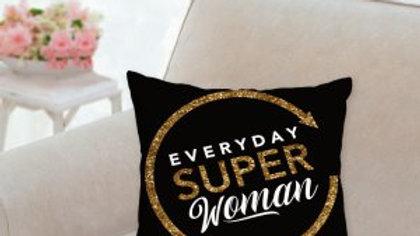 Everyday Super Woman Pillow-Black