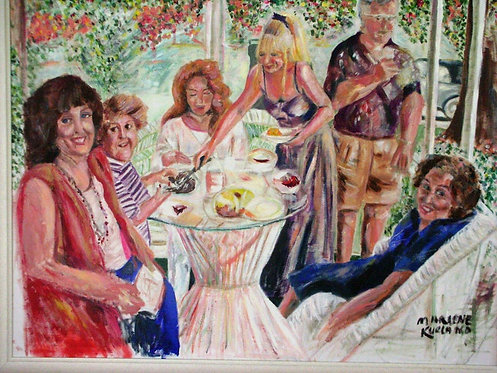 Porch Picnic 30x40 Oil Original $1770 Prints From