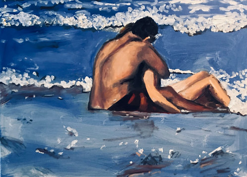 In Love on the Beach  16 x 20  Oil  Original  $950 - Prints from