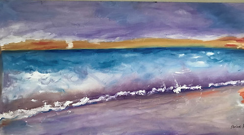 Purple Skies 24 x 48 Oil Original $1800 Prints From
