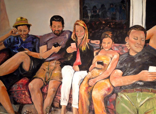 Family Reunion 30x40 Oil Original $2800 Prints From