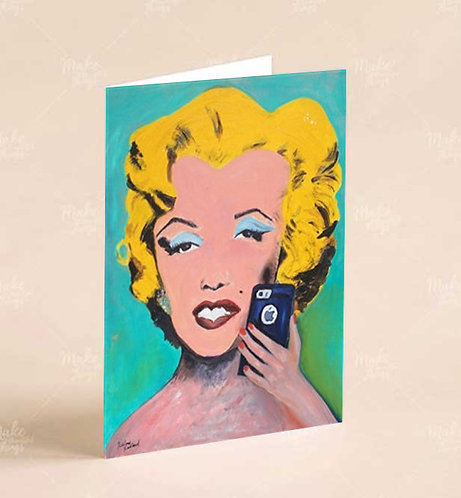 Greeting Cards - Mobile Marilyn