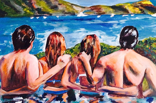 2 Beautiful Couples 24x36 Oil Original $2200 Prints From