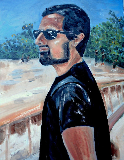 Man in Israel 30x24 Oil Original $995 Prints From