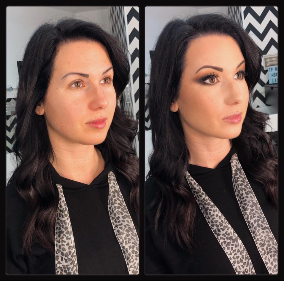 TP Makeup Takács Petra Sminkes Pécs előtte-utána fotó