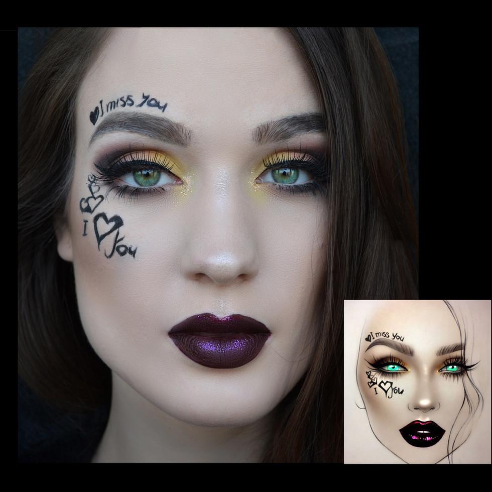 TP Makeup Takács Petra Sminkes Pécs extrém smink