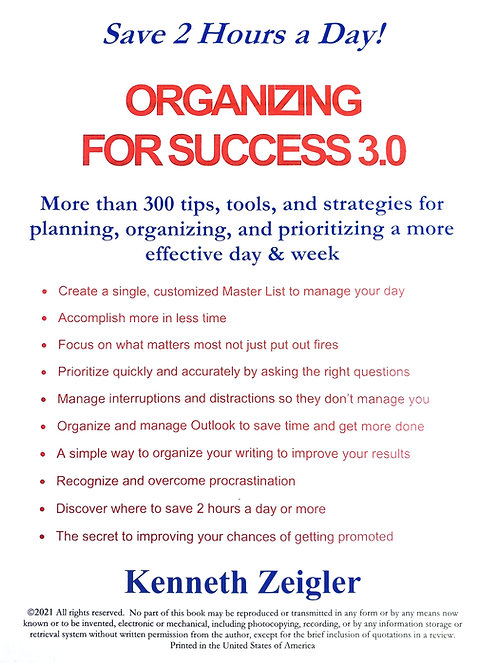 Organizing for Success 3.0, for Leaders (Paperback)