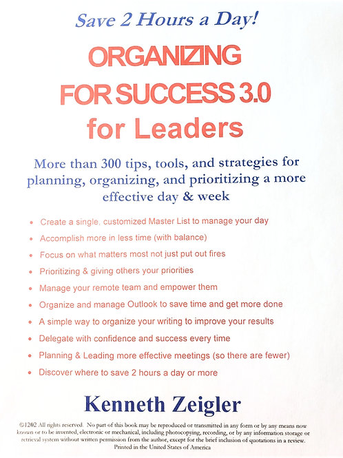 Organizing For Success 3.0 - Leadership Edition