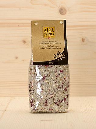 Tessiner Risotto mit Alpenkräuter und Blumen