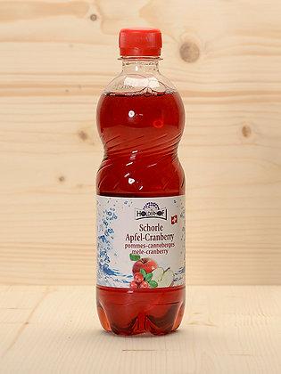 Bio-Schorle Apfel-Cranberry
